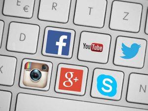 Clavier réseaux sociaux